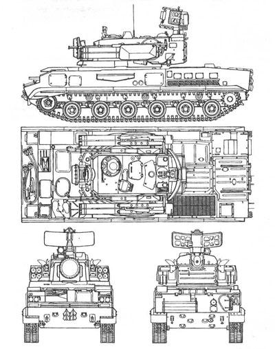 """Зенитный ракетно-пушечный комплекс 2К22  """"ТУНГУСКА """".  Предназначен для противовоздушной обороны мотострелковых и..."""